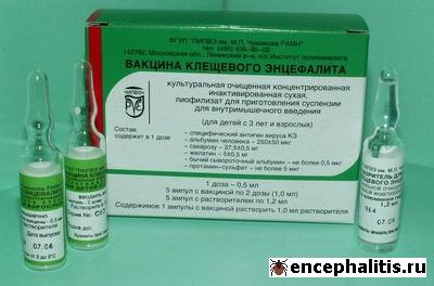 Вакцина клещевого энцефалита культуральная очищенная концентрированная инактивированная сухая